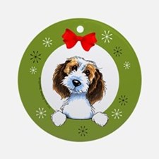 PBGV Christmas Ornament (Round)