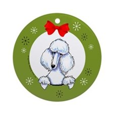White Standard Poodle Lover Christmas Ornament