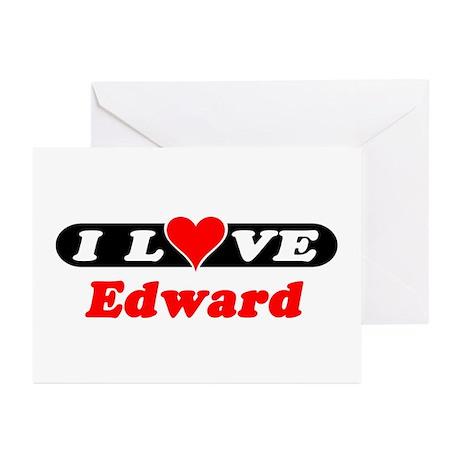 I Love Edward Greeting Cards (Pk of 10)