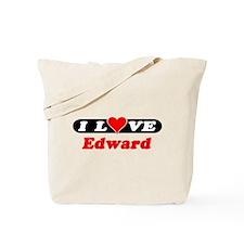 I Love Edward Tote Bag