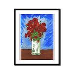 Red Poppies in VaseFramed Panel Print