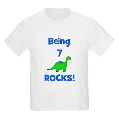 Being 7 Rocks! Dinosaur T-Shirt