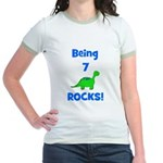 Being 7 Rocks! Dinosaur Jr. Ringer T-Shirt
