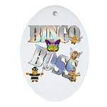 Bingo Boss Animals Oval Ornament