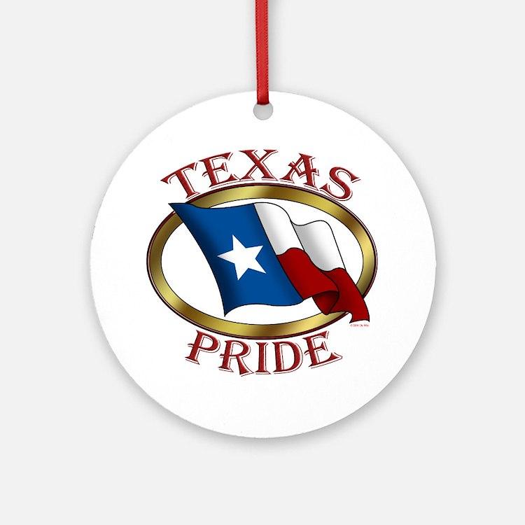 TX Flag: Texas Pride Ornament (Round)