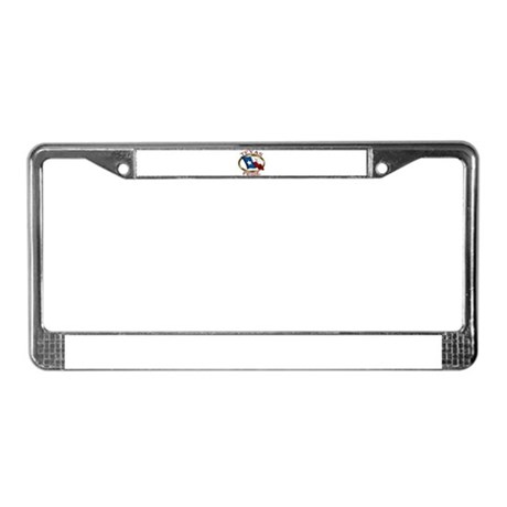 TX Flag: Texas Pride License Plate Frame