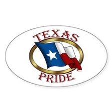 TX Flag: Texas Pride Oval Decal