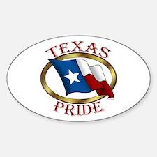 TX Flag: Texas Pride Oval Decal