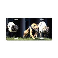 Dog race Aluminum License Plate