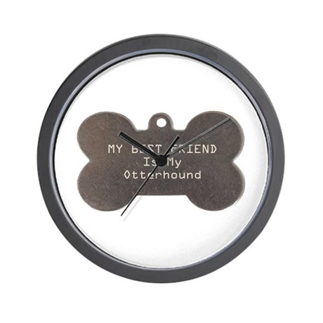 Otterhound Friend Wall Clock