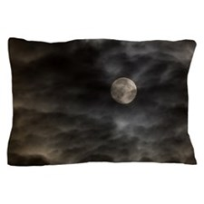 Cloudy moon Pillow Case