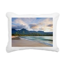 Hanalei bay beach Rectangular Canvas Pillow