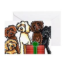 Labradoodle Christmas Greeting Card