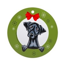 Black Lab Labrador Retriever Christmas Ornament