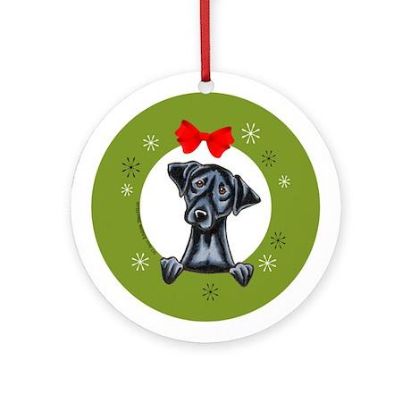 Black Lab Labrador Retriever Christmas Ornament