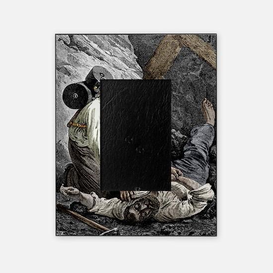 Coal mine rescue, 19th century Picture Frame