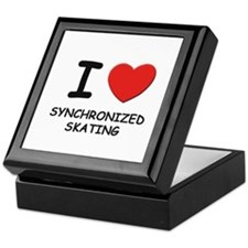 I love synchronized skating Keepsake Box
