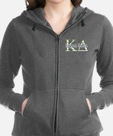 Kappa Delta Letters Striped Women's Zip Hoodie