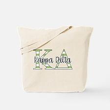 Kappa Delta Letters Striped Tote Bag