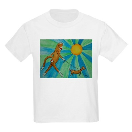 Walking the Dog Kids Light T-Shirt