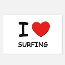 I love surfing  Postcards (Package of 8)