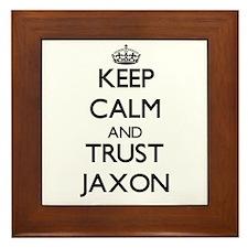 Keep Calm and TRUST Jaxon Framed Tile