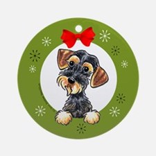 Wild Boar Wirehaired Dachshund Christmas Ornament