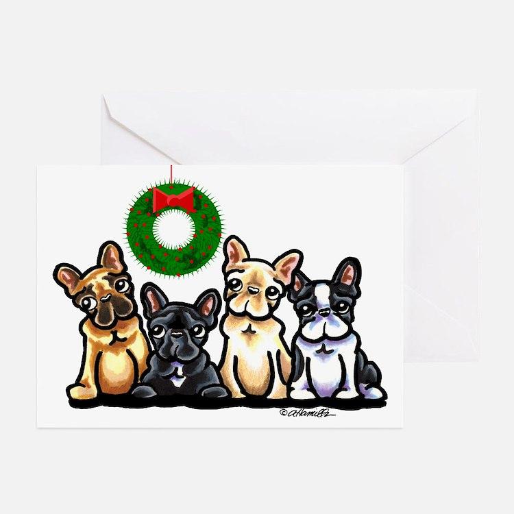 French Bulldog Christmas Greeting Cards (Pk of 20)