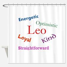 Leo Traits Characteristics Shower Curtain