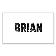 Brian Rectangle Decal