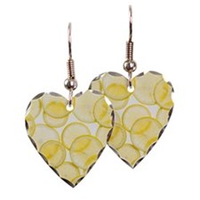 Lemon slices arranged in patte Earring