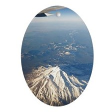 Mount Shasta Oval Ornament