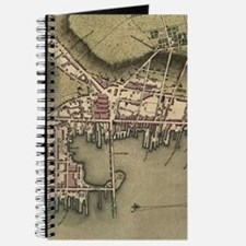 Vintage Map of Newport Rhode Island (1777) Journal