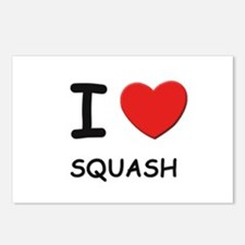 I love squash  Postcards (Package of 8)