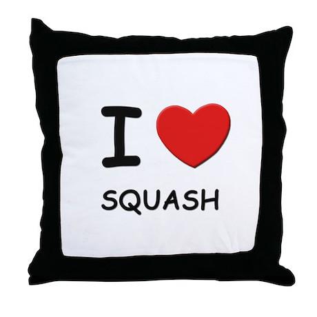 I love squash Throw Pillow