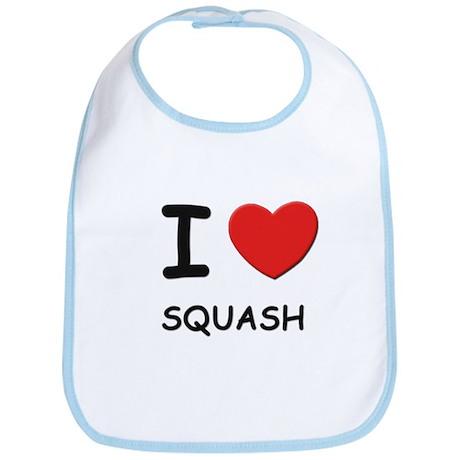 I love squash Bib