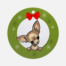 Smooth Chihuahua Lover Christmas Tree Ornament