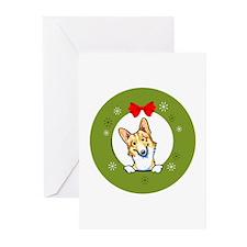 Fawn n' White Corgi Christmas Greeting Cards (20)