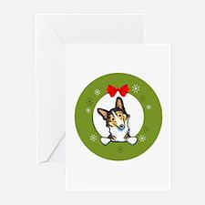 Tricolor Corgi Christmas Greeting Cards (Pk of 20)