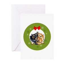 Longhair Dachshund Christmas Greeting Cards 10 pk