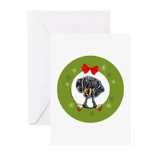 Dapple Dachshund Christmas Greeting Cards (20)