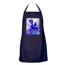 Iris flower windmill Apron (dark)