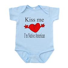 Kiss Me I'm Native American Infant Bodysuit