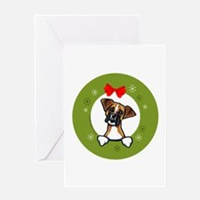 Boxer Christmas Greeting Card