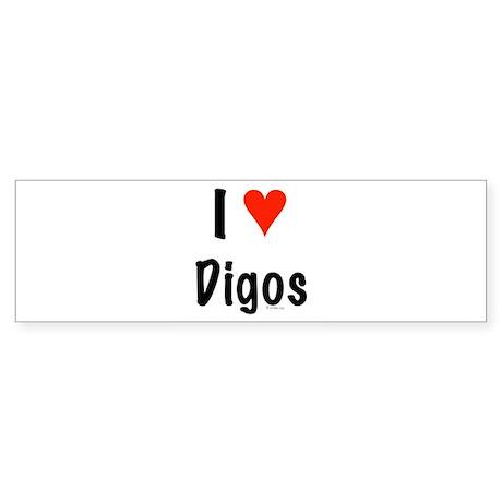 I love Digos Bumper Sticker