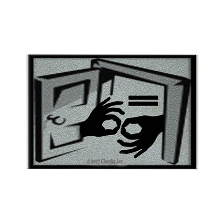 Equal Access Communication Rectangle Magnet (10 pa
