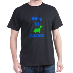 Being 10 Rocks! Dinosaur T-Shirt
