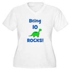 Being 10 Rocks! Dinosaur T-Shirt