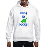 Being 10 Rocks! Dinosaur Hooded Sweatshirt