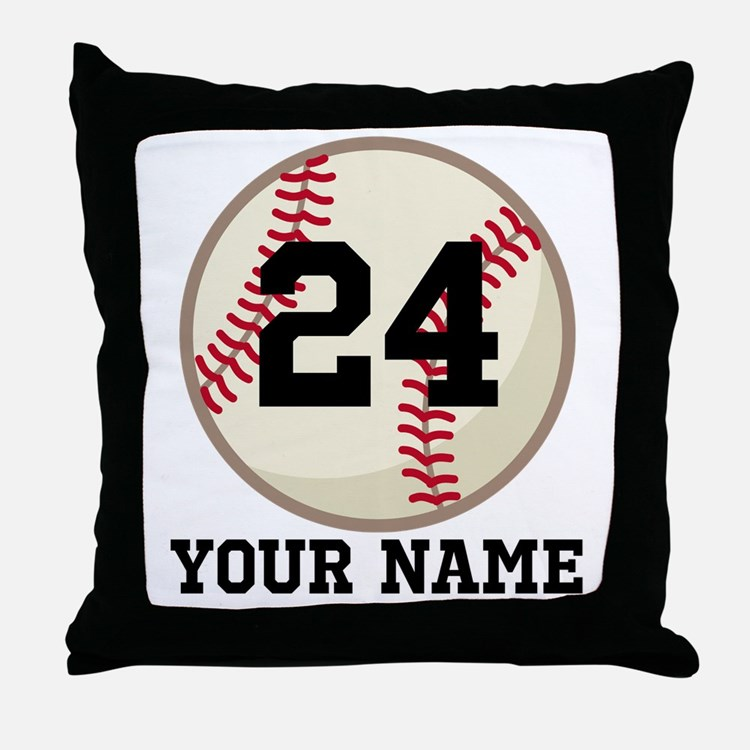 Personalized Baseball Sports Throw Pillow